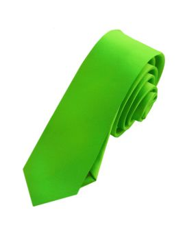Mens Apple Green Skinny Tie