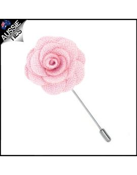 Baby Pink Floral Lapel Pin