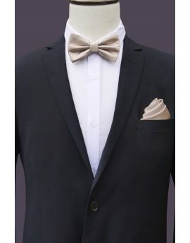 beige bow tie