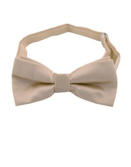 beige boy's bow tie