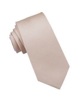 Beige Tan Ribbed 6cm Mens Slim Tie
