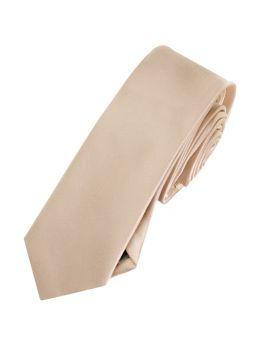 Mens Beige Tan Skinny Tie