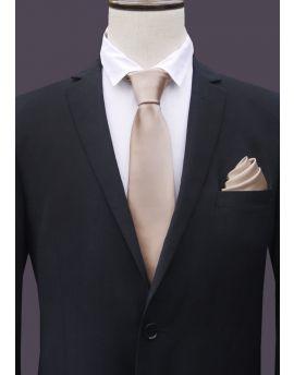 Mens Beige Tan Tie