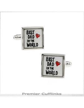 Best Dad in the World Cufflinks