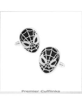 Black and Silver Spiderman Cufflinks