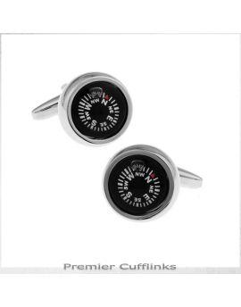 Black Compass Cufflinks