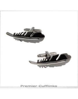Black Feather Cufflinks