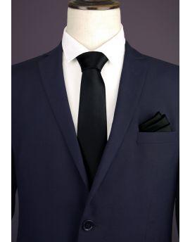 Mens Black Extra Long Tie