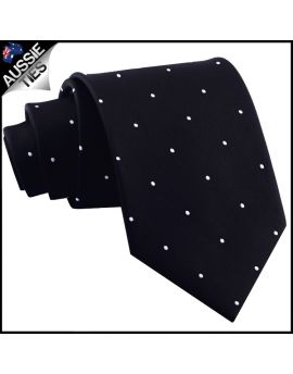 Black Pin Dot Mens Tie