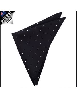 Black Pin Dot Pocket Square Handkerchief