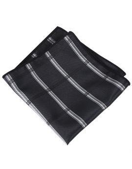 black plaid design pocket square