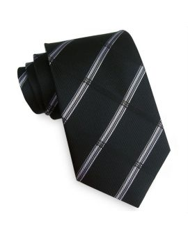 Black Plaid Mens Tie