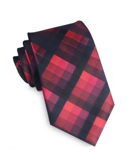 Black & Red Diamonds Tie