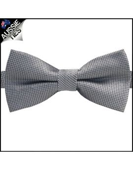 Black & Silver Micro Checks Bow Tie