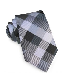 Black, Silver & Grey Diamonds Tie