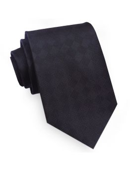 Black Textured Diamonds Mens Tie