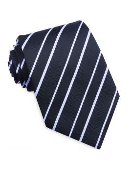 Black & White Zig Zag Stripes Mens Tie