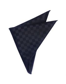 Black with Black Checks Pocket Square