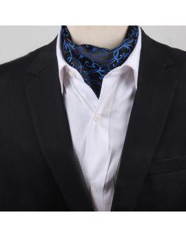 black with blue swirl ascot