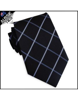Black with Mid & Light Grey Diamonds Mens Tie