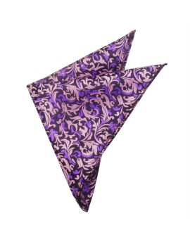 black with pink & purple design handkerchief