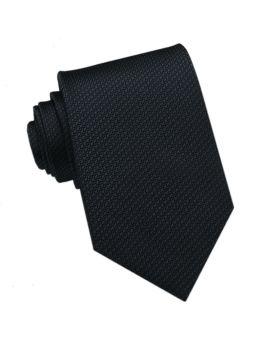 Dark Blue Woven Texture Mens Tie