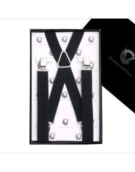 Men's Black X2.5cm Braces Suspenders