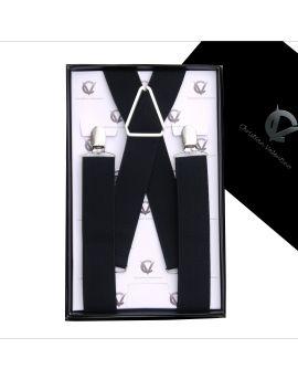 Men's Black X3.5cm Braces Suspenders