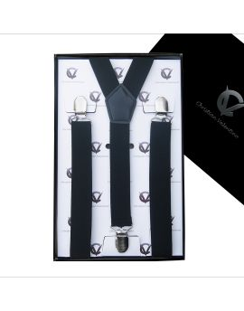 Boy's Black Braces Suspenders Y2.5cm