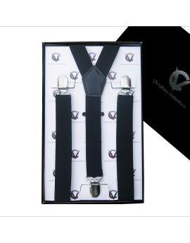 Men's Black Braces Suspenders Y2.5cm
