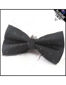 Black with small polka dots bow tie