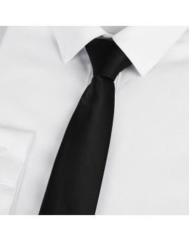 Mens Black Clip On Tie