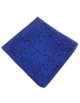 Blue & Black Paisley Pocket Square