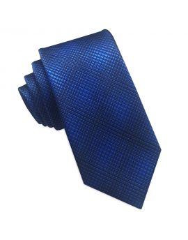 blue with black crosshatch tie
