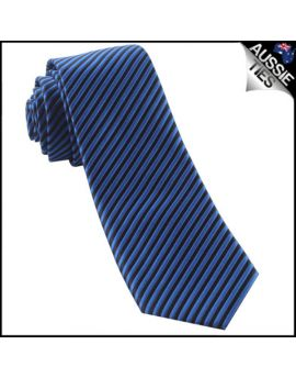 Blue & Black Thin Stripes Mens Necktie