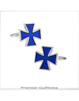 Blue Bravery in Wartime Cufflinks
