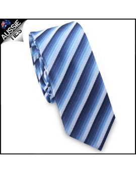 Blue Cascading Stripes Skinny Tie