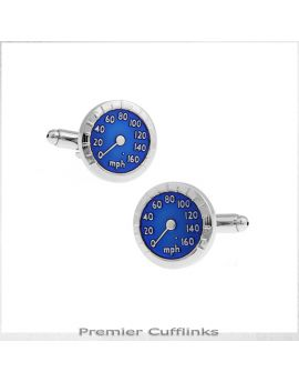 Blue Speedometer Cufflinks