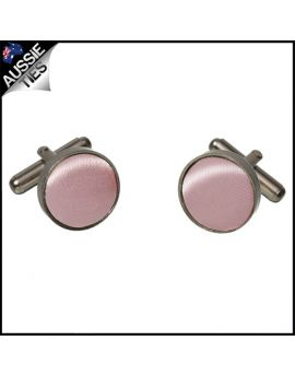 Mens Blush Dusky Pink Cufflinks