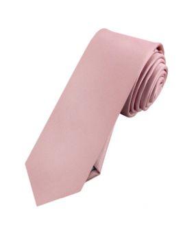 Mens Blush Dusky Pink Skinny Tie