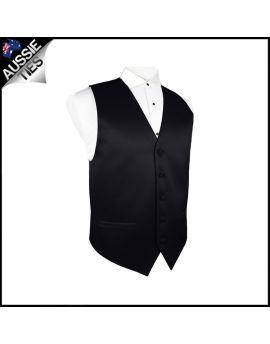Boys Black Waistcoat Vest
