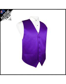 Boys Cadbury's Amethyst Purple Waistcoat Vest