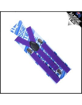 Boys Cadburys Amethyst Purple Braces Suspenders