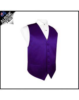 Boys Dark Purple Waistcoat Vest