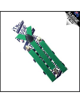 Boys Emerald Green Braces Suspenders