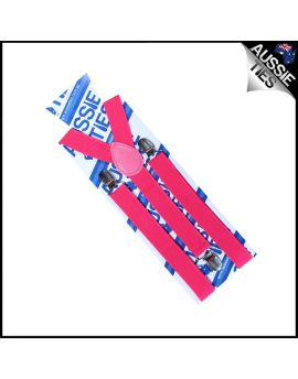 Boys Hot Pink Braces Suspenders