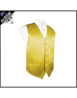 Boys Metallic Gold Waistcoat Vest