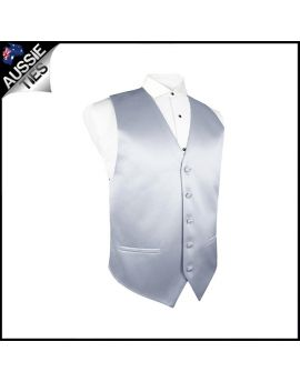 Boys Mid Silver / Grey Waistcoat Vest