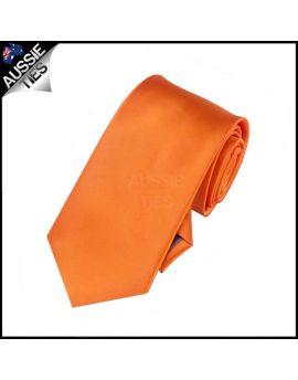 Boys Orange Plain Necktie