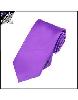 Boys Violet Purple Plain Necktie